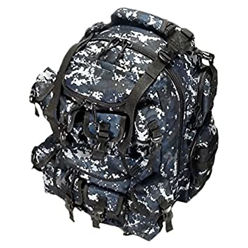 20 2400cu. in. Great Tactical Hunting Camping Hiking Backpack OP220 DMBK Digital Camouflage Navy Blue