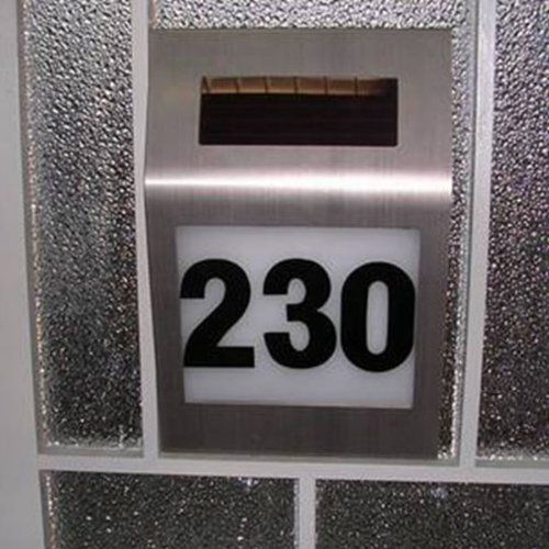 BUYEONLINE Stainless Steel Solar 2-Led House Number Doorplate Light