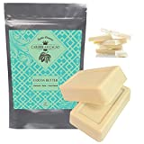 Cocoa Butter Raw Pure Unrefined - 2 LB Food Grade Bar - Incredible Natural Cacao Scent - Eliminate Stretch Marks and Correct Acne Spots - DIY body butters, lotion, lip balms and stick, cooking
