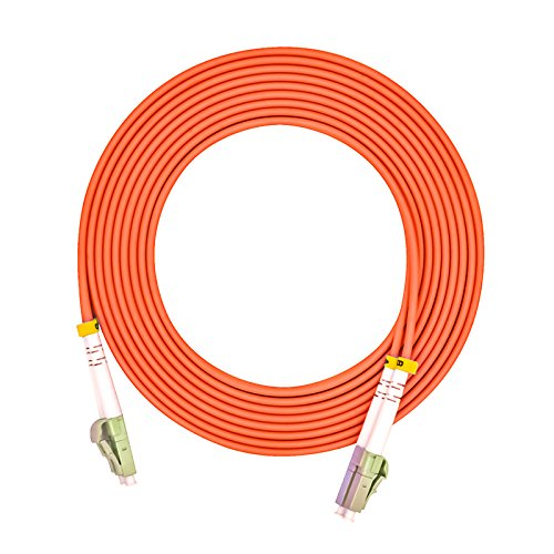 Jeirdus 3Meters 10ft LC to LC Duplex 62.5/125 OM1 Multimode Fiber Optic Cable Jumper Optical Patch Cord LC-LC ()