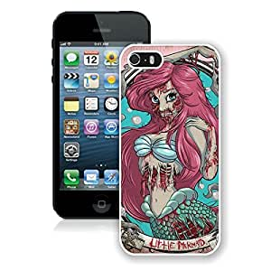 Zombie Ariel The Little Mermaid White iPhone 5s Phone Case Genuine Custom Cover