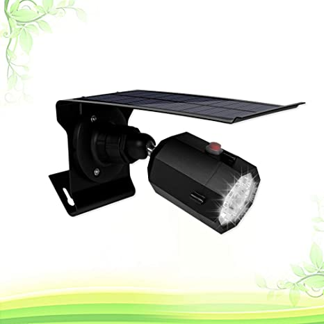 Uonlytech 1pcs Solar Powered Fake Simulation CCTV Surveillance Cameras Lamp for Yard Home Indoor Garden Outdoor