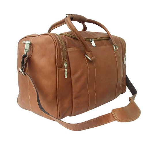 Piel Leather Classic Weekend Carry-On, Saddle, One Size ()