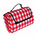 Camco 42803 Picnic Blanket, 51-Inch x 59-Inch, Red/White
