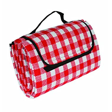 Camco 42803 Picnic Blanket (51  x 59 , Red/White)