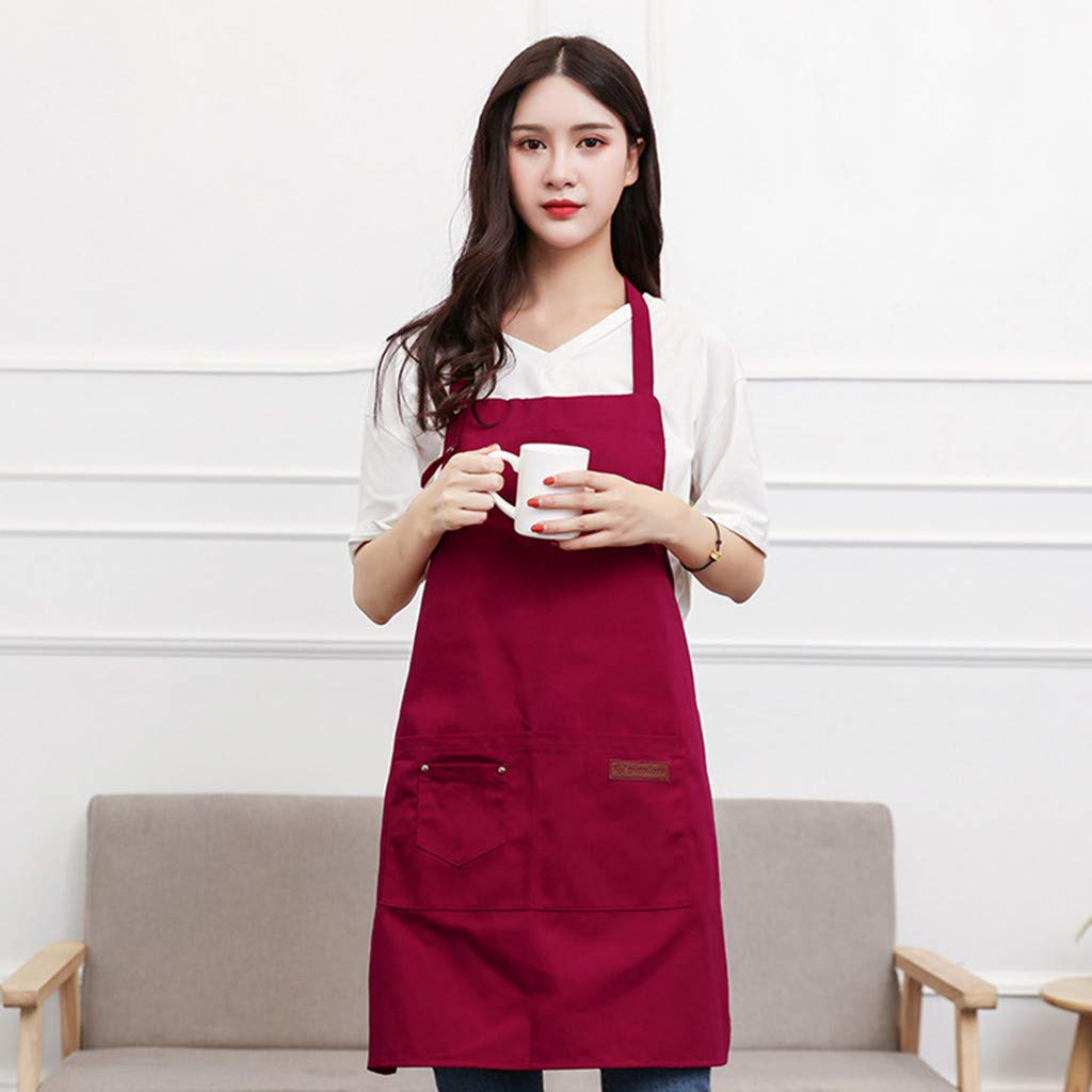 Apron kitchen waterproof oil-proof cooking apron female adult gown chef waist#LH
