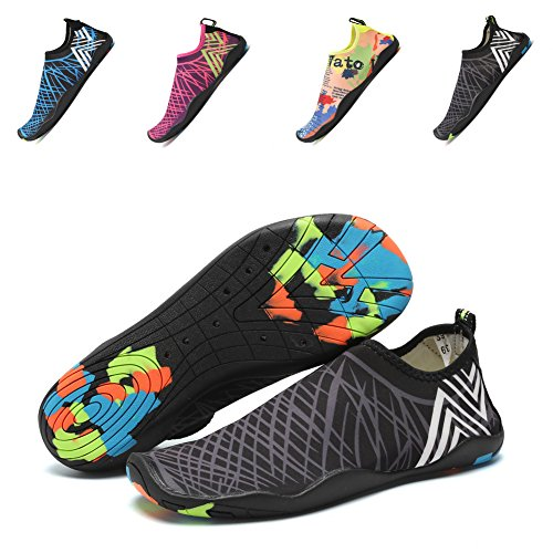 CIOR-Men-and-Womens-Barefoot-Quick-Dry-Water-Sports-Aqua-Shoes-with-14-Drainage-Holes-for-Swim-Walking-Yoga-Lake-Beach-Garden-Park-Driving-Boating