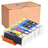 INKUTEN (TM) Compatible Ink Cartridge Replacement for Canon PGI-250XL CLI-251XL High Yield (2 large Black, 1 Cyan, 1 Magenta, 1 Yellow, 1 Small Black) - 6 Pack
