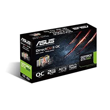 Asus GTX660-DC2OCPH-2GD5 - Tarjeta gráfica de 2 GB con nVIDIA GeForce GTX 660 (gddr5, HDMI, DVI)