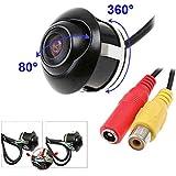 Caméras de recul Caméras de Voiture CCD vue avant à double interrupteur à section arrière vue caméra Parking Appareil photo avec rotation 360 degrés