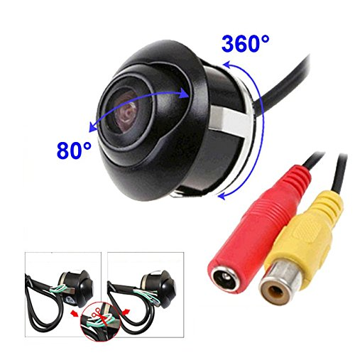 UPC 710558608930, Hot Sell Car Camera Rear View Camera Front View Double To Switch with 360 Degree Universal Waterproof Camera Vehicle Backup Camera