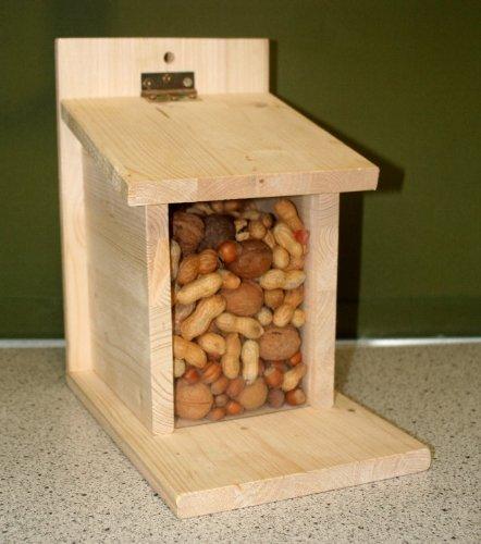 XXL Eichhörnchen Futterautomat Eichhörnchenfutterhaus Futterstation Nussstation