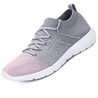 Pt&Hq Tennis Running Shoes Casual Walking Sneakers for Women Pink 7