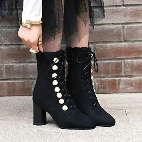 bassi black e tacco con Sandalette da stivali Stivali DEDE donna 5HqXx5w