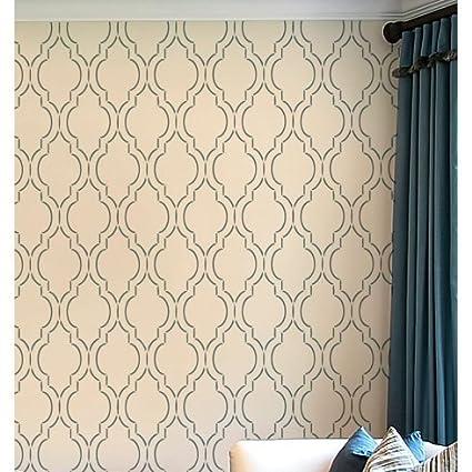 Sophia Trellis Wall Stencil Pattern - Large - Beautiful stencils for DIY  home decor