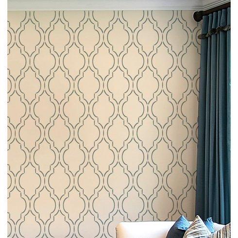 Sophia Trellis Wall Stencil Pattern - Large - Beautiful stencils for DIY home decor ()