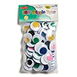 CHARLES LEONARD JUMBO WIGGLE EYES ASSORTED COLORS (Set of 6)