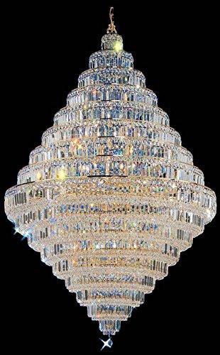 Classic Lighting 1606 G SC Ambassador, Crystal, Chandelier, 24k Gold Plate