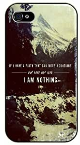 If I have faith that can move mountains but have not love - I am nothing - Bible verse iPhone 5 / 5s black plastic case