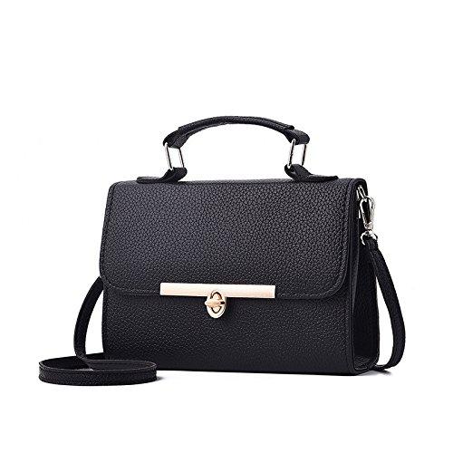 Shopping Sac à Bandoulière Rétro Noir Pour Fourre tout Bandoulière Black Mode Simple Sac Femmes à Sac HIOqIp