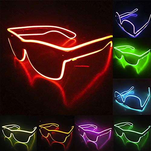 Glumes 2019 New Year Eve LED Glasses Party Favors Supplies LED Glasses Holiday Light Up Toy Glow in The Dark Party Favors Pack for Kids with Flash Light for Birthday Gift -