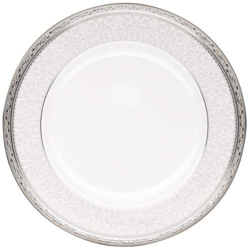 Noritake Odessa Dinner Plate, 10-1/2-Inch, Platinum