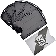 Open Face Two Card ID Badge Holder by Specialist ID (Black 5 Pack with Bonus)