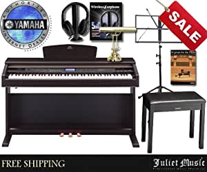 yamaha arius ydpv240 ydp v240 88 key digital piano delux bundle with free gifts. Black Bedroom Furniture Sets. Home Design Ideas
