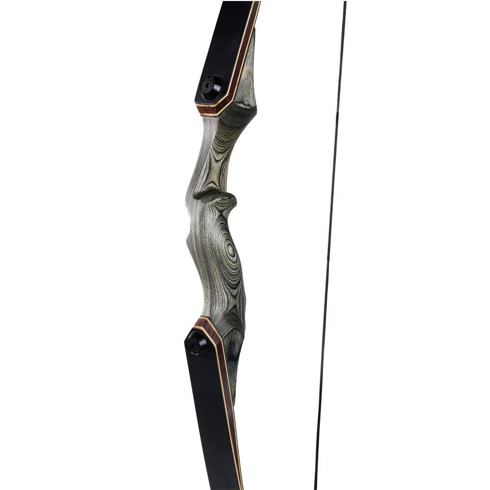 Toparchery 60 Pouces tir /à larc Takedown Recurve Arc 40lbs Droitier Riser Bow avec Stringer pour Chasse Cible Tir