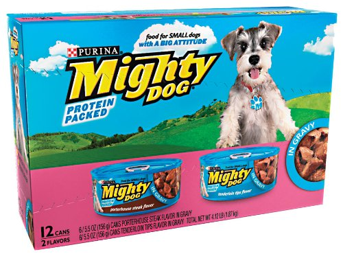 Mighty Dog 2-Flavor Variety Pack, 5.5-Ounce Tins (Pack of 24), My Pet Supplies