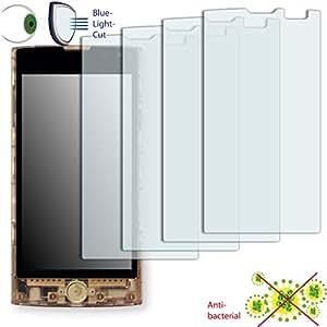 4x DISAGU ClearScreen Protector de pantalla para KDDI FX0antibacteriano, filtro de corte Bluelight-Protector de pantalla