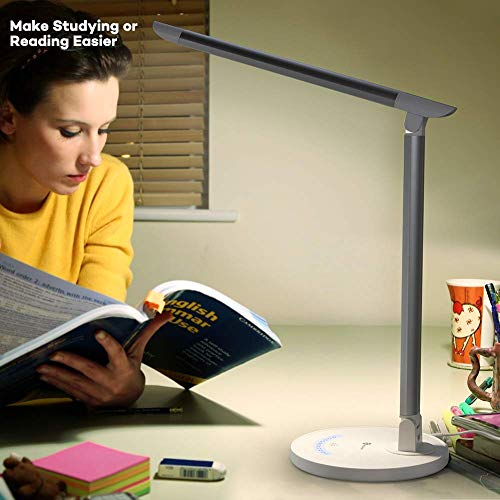 TaoTronics LED Desk Lamp, Eye-caring Table Lamps, Dimmable Office Lamp with USB Charging Port, 5 Lighting Modes with 7 Brightness Levels, Touch Control, White, 12W, Philips EnabLED Licensing Program by TaoTronics (Image #7)