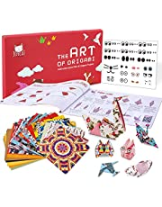 JoyCat Origami Paper Kit,90 Sheets Double Sided Origami Paper,Kaleidoscope,Japanese and Animal Patterns,30 Origami Projects Craft Guiding Booklet for Beginner Training and School Craft Lessons…