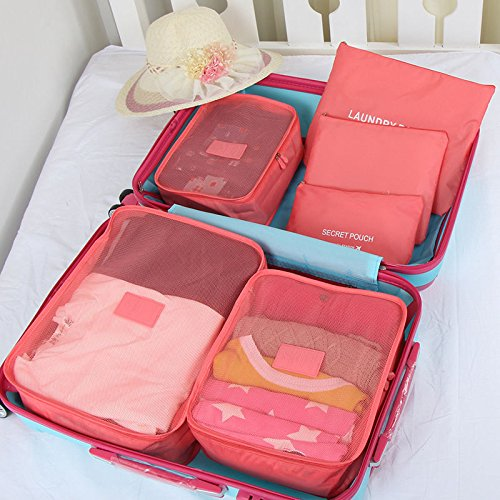 6pcs Set Travel Organizers Packing Cubes Luggage Suitcase Bags Accessories - India Store Online Disney