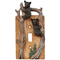 Climbing Bears Single Switch Plate - Wilderness Decor by Black Forest Decor