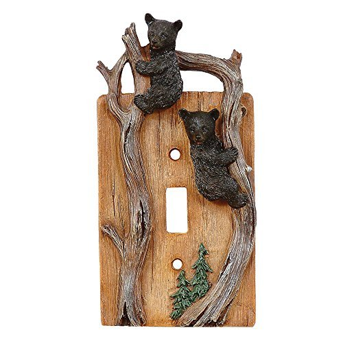 Black Forest Décor Climbing Bears Single Switch Plate - Wilderness Decor