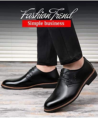 CNVIKL Chaussures en Cuir d'affaires pour Hommes, Semelle en Caoutchouc résistant à l'usure, Chaussures de Bureau à Talons Larges et Confortables pour Le Bureau de mariage-40