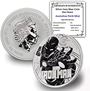 2018 TV Tuvalu 1 oz .9999 Fine Silver Iron Man Marvel Series Coin Brilliant Uncirculated w/Certificate of Auth