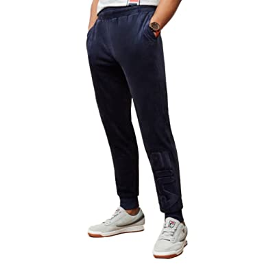 8150a9e0 Fila Men's Vinny Velour Jogger Pants at Amazon Men's ...