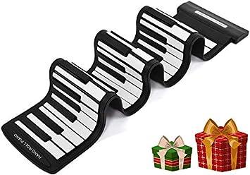 Diyeeni Piano con 61 Teclas Teclado Midi Profesional, USB ...