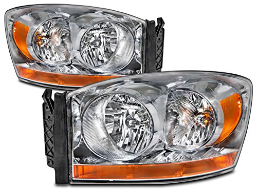 3500 Pickup Headlight Headlamp (Dodge Ram 1500 2500 3500 Pickup Headlights Headlamps Driver/Passenger Pair New )