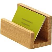 Soporte de escritorio para tarjetas, hecho de bambú natural