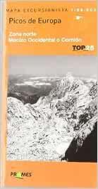 Picos de Europa, Mapa de Zona Norte, Macizo Occidental o Cornion (Top 25 (prames))