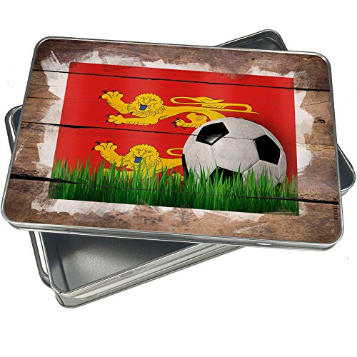 NEONBLOND Cookie Box Soccer Team Flag Basse-Normandie region France Christmas Metal Container