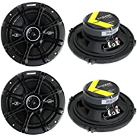 4) Kicker 41DSC654 D-Series 6.5 480 Watt 2-Way 4-Ohm Car Audio Coaxial Speakers