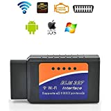 WIFI OBD2 Scanner, OBD II Code Reader Car Diagnostic Tool for Check Engine, Smart with IOS, Android & Windows Device, More Than 3000 Code Database for Most Vehicle