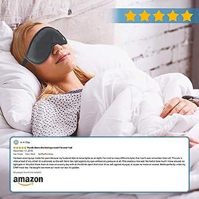 Lewis N Clark Comfort Eye Mask  Sleep Aid to Block Light for Travel Hotel Airport Insomnia  Headache