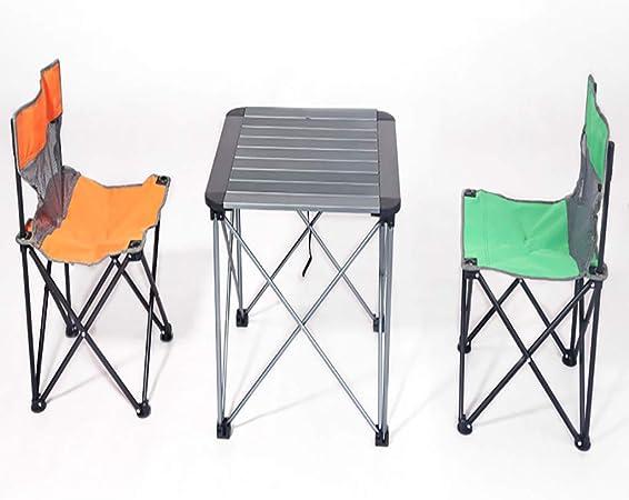 Portátil Silla De Playa del Partido For 2 Persona Mesa De Picnic De Ajuste En Banco Plegable Compacto Y Ligero De Jardín De Aluminio Plegable Al Aire Libre (Color : Green): Amazon.es: