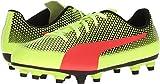 PUMA Unisex-Kids Spirit FG Soccer-Shoes, Fizzy Yellow-Red Blast Black, 3.5 M US Big Kid