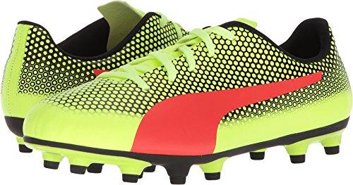 PUMA Unisex-Kids Spirit FG Soccer-Shoes, Fizzy Yellow-Red Blast Black, 3.5 M US Big Kid by PUMA (Image #3)
